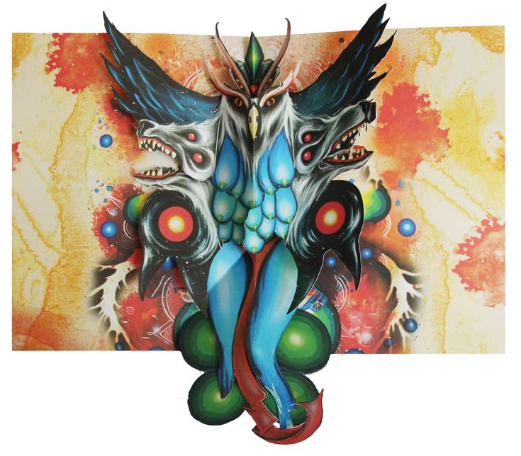 Morrigan Lupus by Skinner - From the Pop Up Art Book Available at http://kck.st/1D4v0EZ #skinner #artofskinner#popupbook #papercraft #paper #art #crowdfunding #uniquegift #artbook #books #diy #handmade