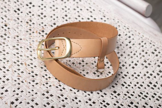 Leather Belt Unisex / Vegetable Tanned Leather от DNCraftsRussia