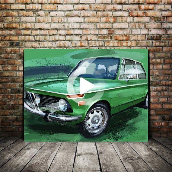 2002 Bmw Painting Automotive Decor Green Large Wall Art Canvas Prints In 2020 Large Wall Art Automotive Decor Garage Art