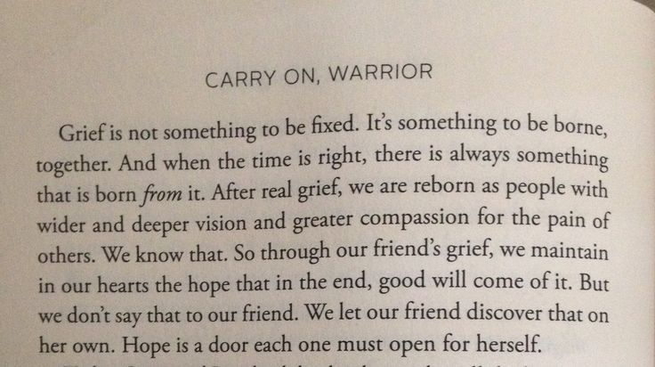 "Insightful quote about grief from ""Carry On Warrior"" by Glennon Doyle Melton"