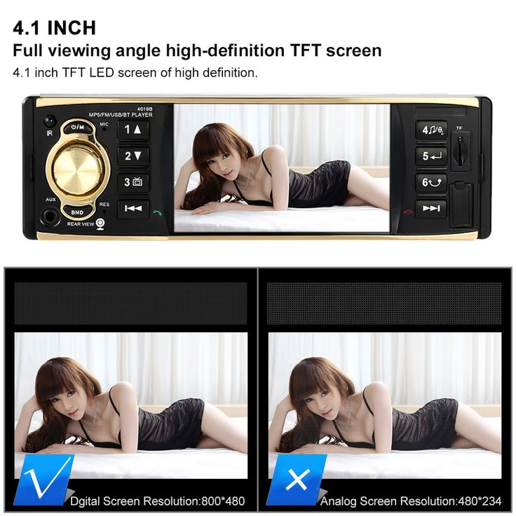 4.1 inch Universal TFT HD 1080P Bluetooth Car Radio MP5 Player Sales Online black - Tomtop  auto car accessories