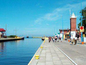 Latarnia i port w Darłowie