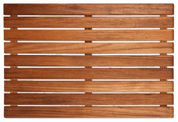 Natural Unfinished Plantation Teak Bath Mat - contemporary - Bath Mats - Health Products For You