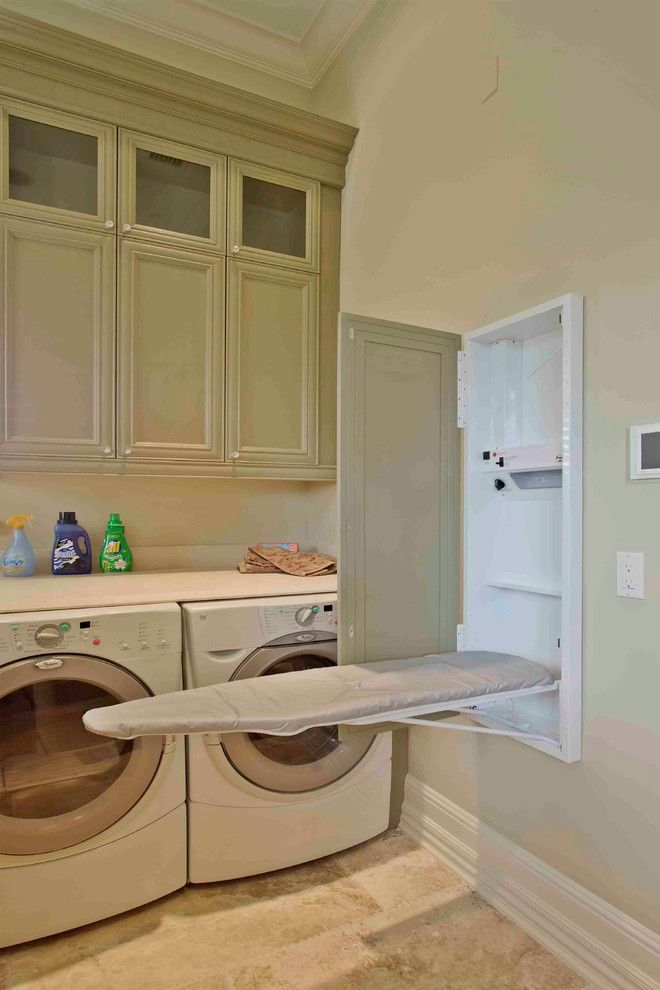 Pretty Wall Mounted Ironing Board In Laundry Room Traditional With Fold  Down Ironing Board Next To