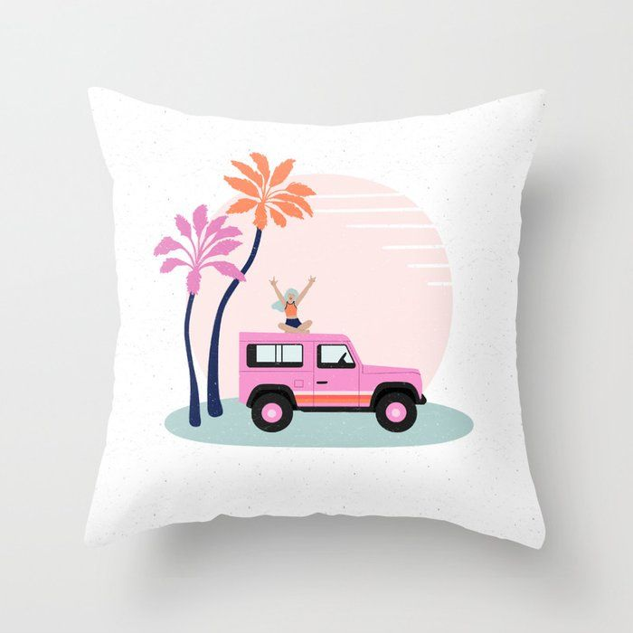 In All Weather 4x4 Vacay Throw Pillow In 2020 Throw Pillows Pillows Designer Throw Pillows
