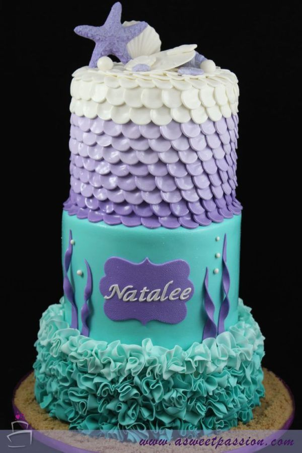 Mermaid Cake, 21 Sizzling Summer Birthday Cake Ideas | Pretty My Party
