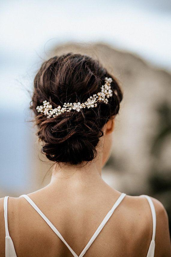 "Wedding Hair Accessory, Beaded Headband, Bridal Headband, Crystal Halo, Boho Bridal Crown ""Smilla"""