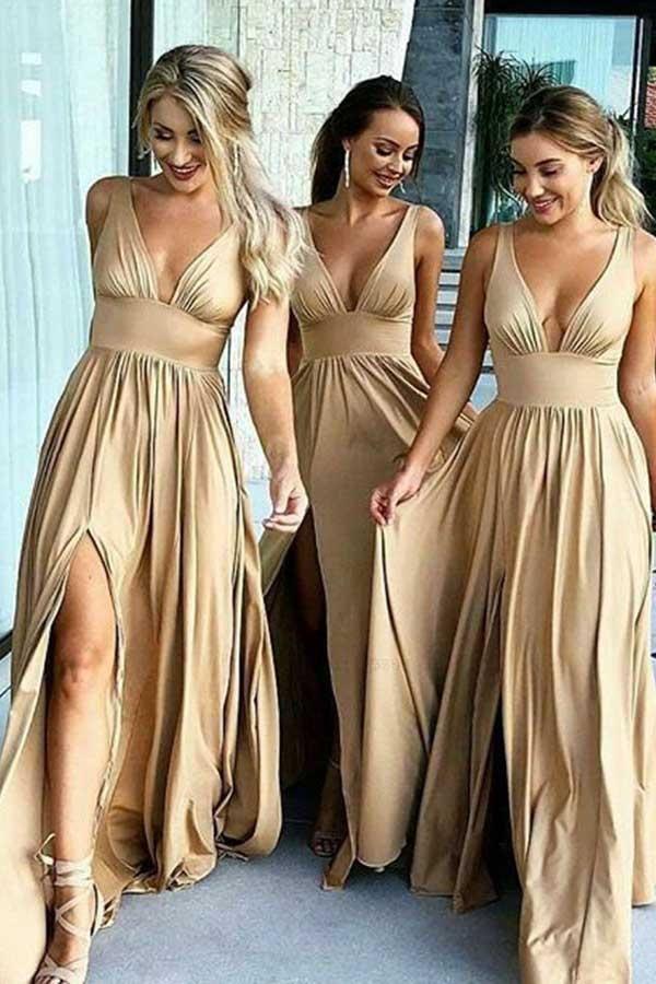 4190c7f9f6 Hot Sale Light A-Line Bridesmaid Dress