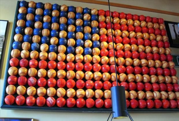 Patriotism, artistic and an obvious love for baseball -man cave worthy? YES.