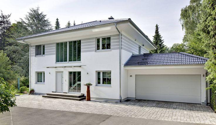 Stadtvilla mit doppelgarage flachdach  Bildergebnis für stadtvilla doppelgarage walmdach | Garagen ...