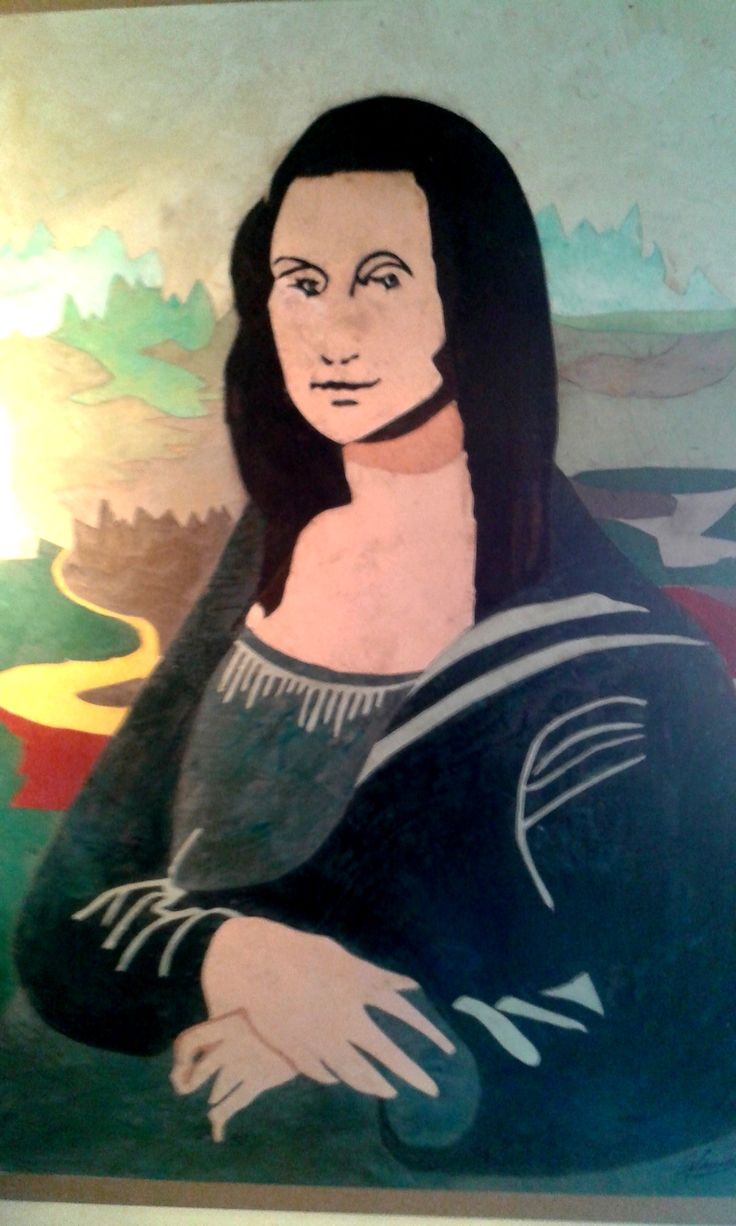 """""""Mona Lisa"""" - Reproduction in Venetian Encaustici spatula by Master Scarpa (Venice)  For quote: info@mirabiliashop.com  see more about Master Scarpa with link: http://www.mirabiliashop.com/prodotti%20karmas.htm#!/Quadri-dAutore/c/12143314/offset=0&sort=nameAsc  Every work is autenticathed and signed by Master Scarpa."""
