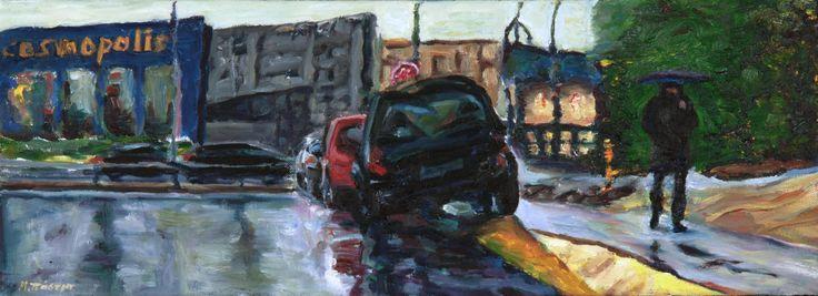 Βροχή, Νο 5 / Rain, No 5 λάδι σε καμβά / oil on canvas 54.7*20.0*1.0  cm