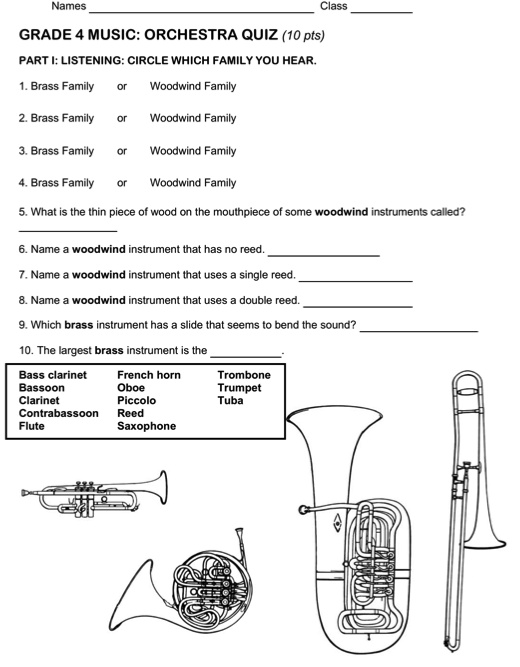 52 best Instrument Families Instruments Orchestra images on – Instruments of the Orchestra Worksheets