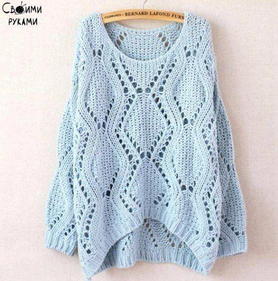 Пуловер спицами / Рукоделие
