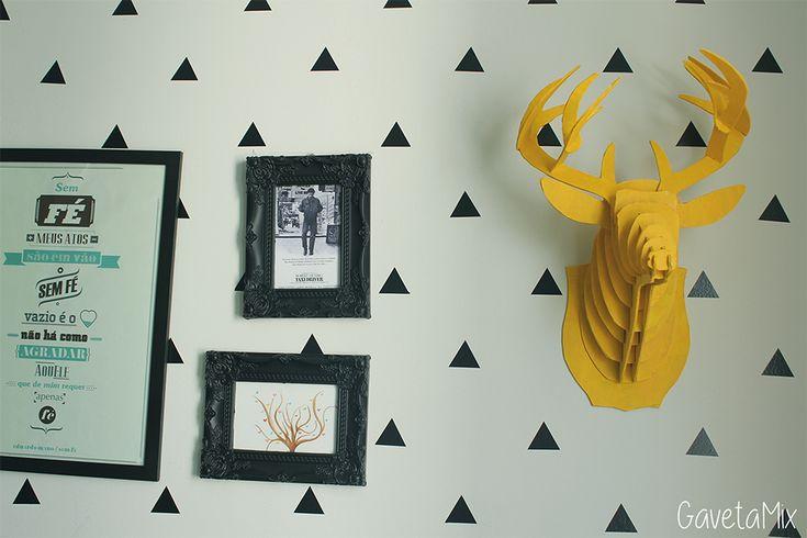 cabeça de alce feito de papelão ou papel paraná