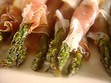 Roasted/Grilled proscuitto wrapped asparagus- one of my fave easy, elegant appetizers! I have to serve this again soon!