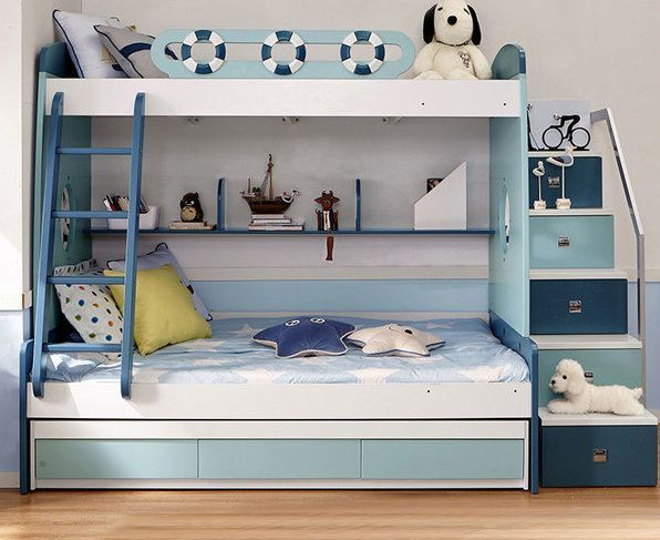 Jack Kid Nautical Bunk Bed For Three Person Bunk Beds Small