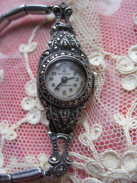 Art Deco Bucherer Wrist Watch  TLC by AndOnToWillow on Etsy