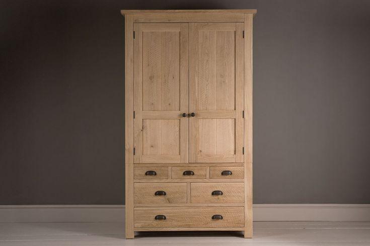 Tall Alderman Gents Oak Wardrobe