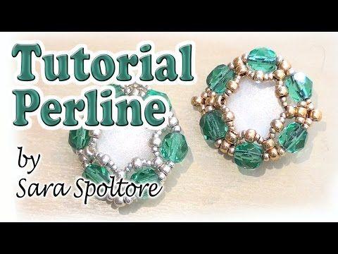 Tutorial orecchini facili con perline - Come fare orecchini fai da te - Gioielli fai da te - YouTube