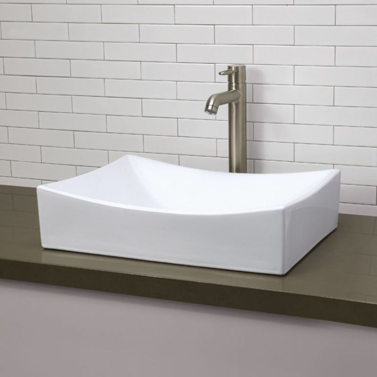 "DecoLav 1446 Classically Redefined 20-1/4"" Rectangular Vitreous China Vessel Lavatory Sink"