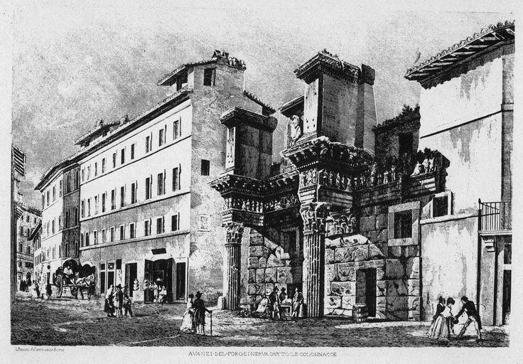 Le Colonnacce, come erano noti i resti del Foro di Nerva