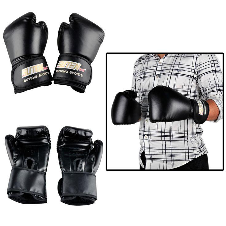 Hot Sale Brand PU leather sport training equipment Boxing Gloves Kick boxing MMA Training Fighting Sandbag Gloves Sanda mittens