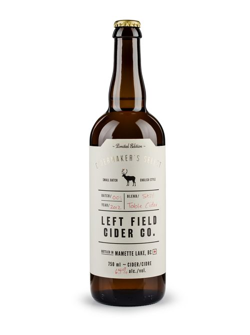 A Hybrid of the whiskey bottle and the beer bottle. With a write in numbering system