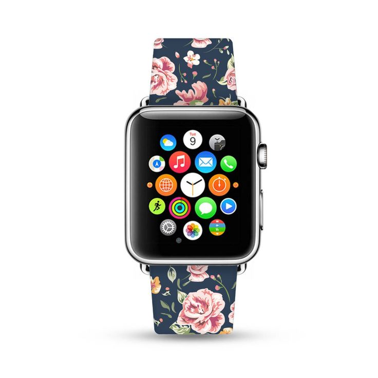 Apple Watch Band 38mm women, Apple Watch band 42mm for 1 ,2 & 3, Apple Watch Strap genuine Calf Leather Wrist Band black rose flowers floral by HiveWorkshop on Etsy https://www.etsy.com/listing/531584923/apple-watch-band-38mm-women-apple-watch
