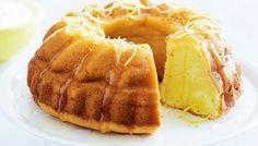 Σιροπιαστό κέικ λεμονιού με γιαούρτι