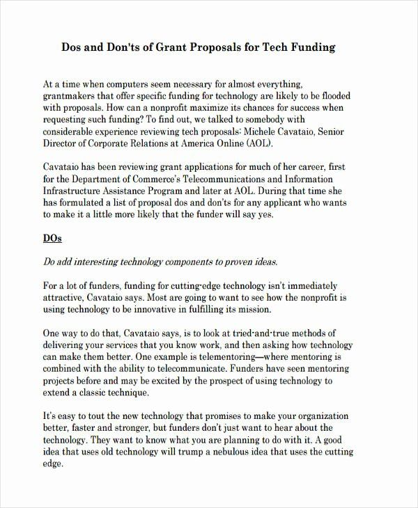 Non Profit Proposal Template In 2020 Proposal Example Free