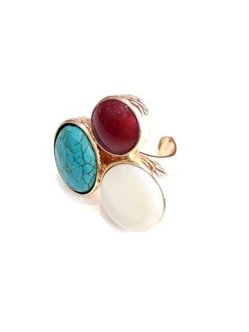 La Bella Donna - Γυναικειο δαχτυλιδι με πετρες-Χρυσο
