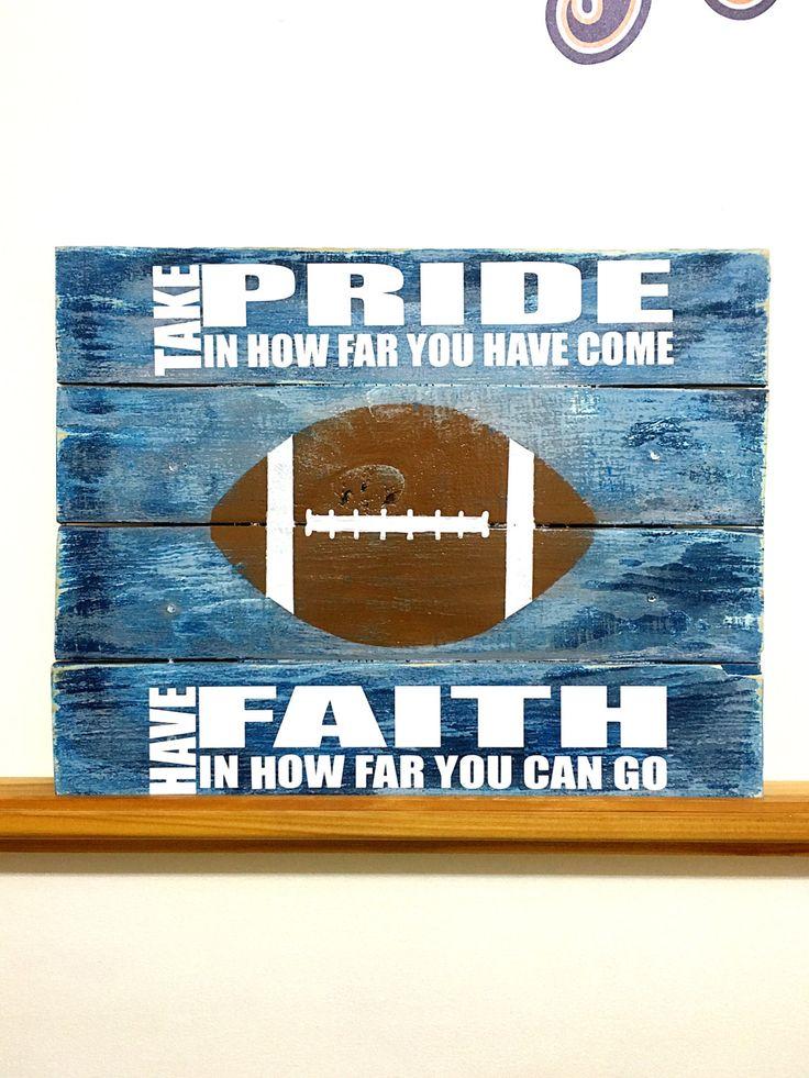 Football Decor, Football Sign, Football Bedroom, Boys Bedroom Decor, Football Wall Decor, Football Wall Art, Football Quotes, Football Gifts by TamieMarieDesign on Etsy