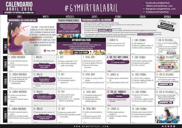 Calendario Septiembre Gymvirtual.Gymvirtual Calendario Abril 2019 Quarviseltomanlu Tk
