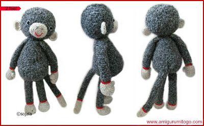 Amigurumi Go Monkey : 40 beste afbeeldingen over Gehaakte / gebreide knuffels op ...