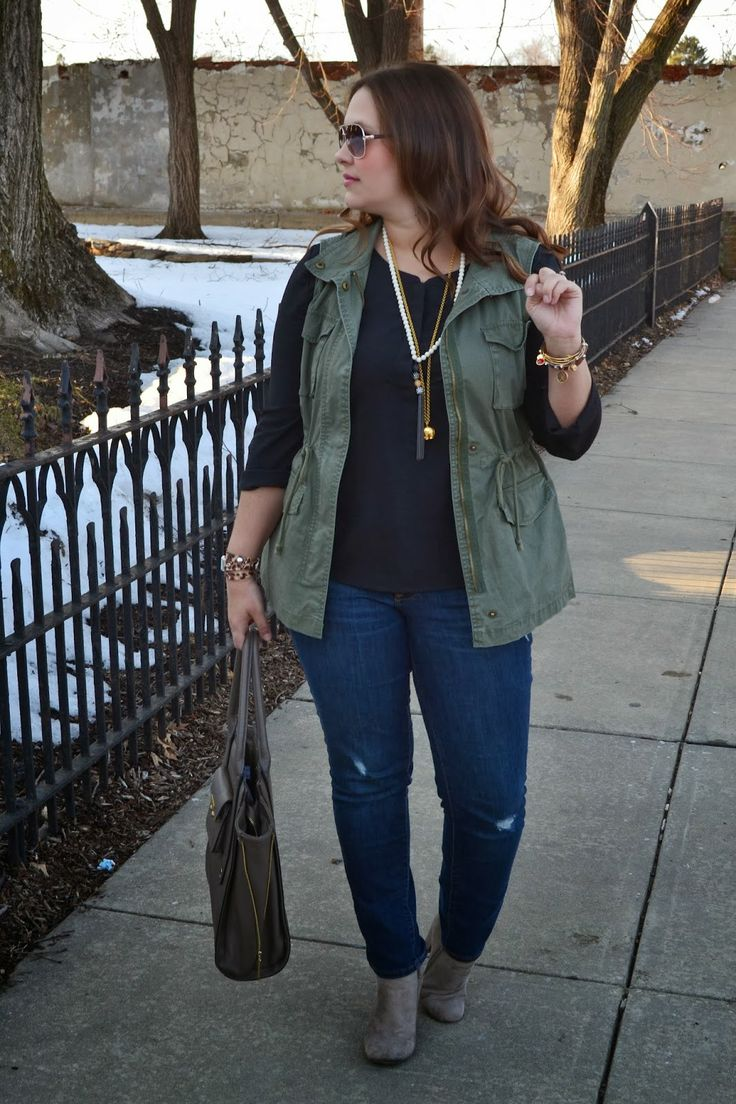 Old Navy Military Vest, Target Booties, military style, casual, booties, Stella and Dot