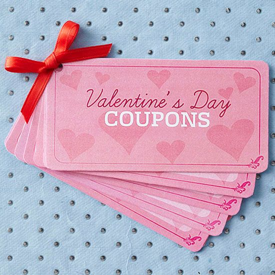 Free printable Valentine's Day Coupons