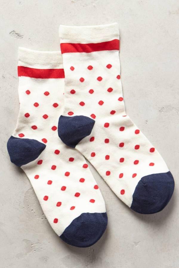 Hansel from Basel Candy Dot Crew Socks #AnthroFave