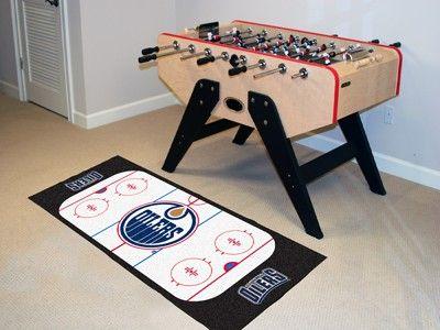 Edmonton Oilers Hockey Rink Runner Area Rug/Carpet