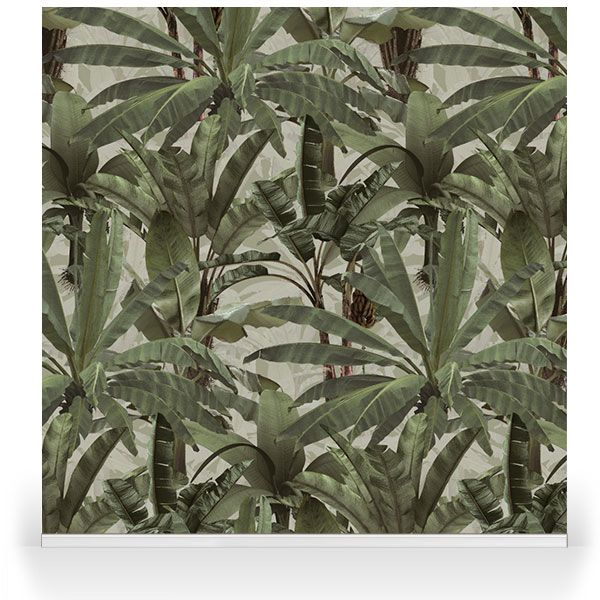 Crazy Banana Camo. Product Code: RSW50201. Design: Franco Moz. Collection: Bespoke Wallpaper. Application: Walls, stretched canvas and fabric prints. Customs: Repeatable, Scalable. Price on request.