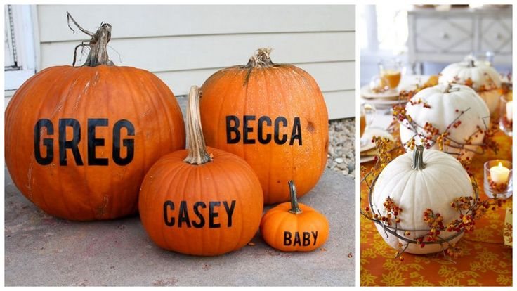 Named pumpkins inspired by: Who Arted White pumpkins inspired by: Better Homes and Gardens
