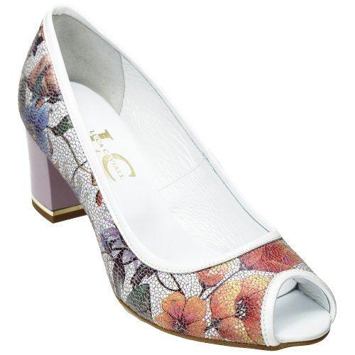 Luca Cavialli női bőr cipő LC3631 virágmintás