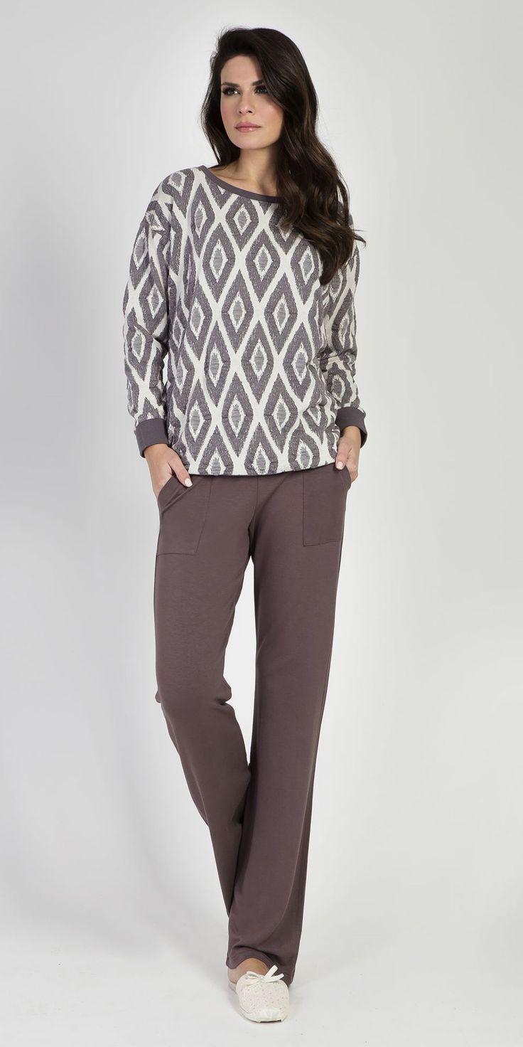 Loungewear Set 97% Viscose 3% Elastane | Loungewear| Vamp! Loungewear Set 97% Viscose 3% Elastane 5426-5427