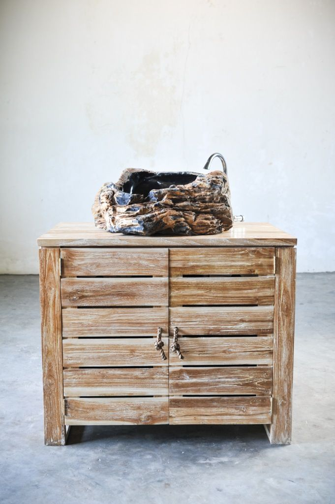 Мебель для ванной под раковину, тумба, дерево тик, ручки ротанг, мебель Индонезии, о. Бали. Furniture for bathroom, grand bath washstand for one sink, solid teak wood, rattan handles, Indonesia, Bali