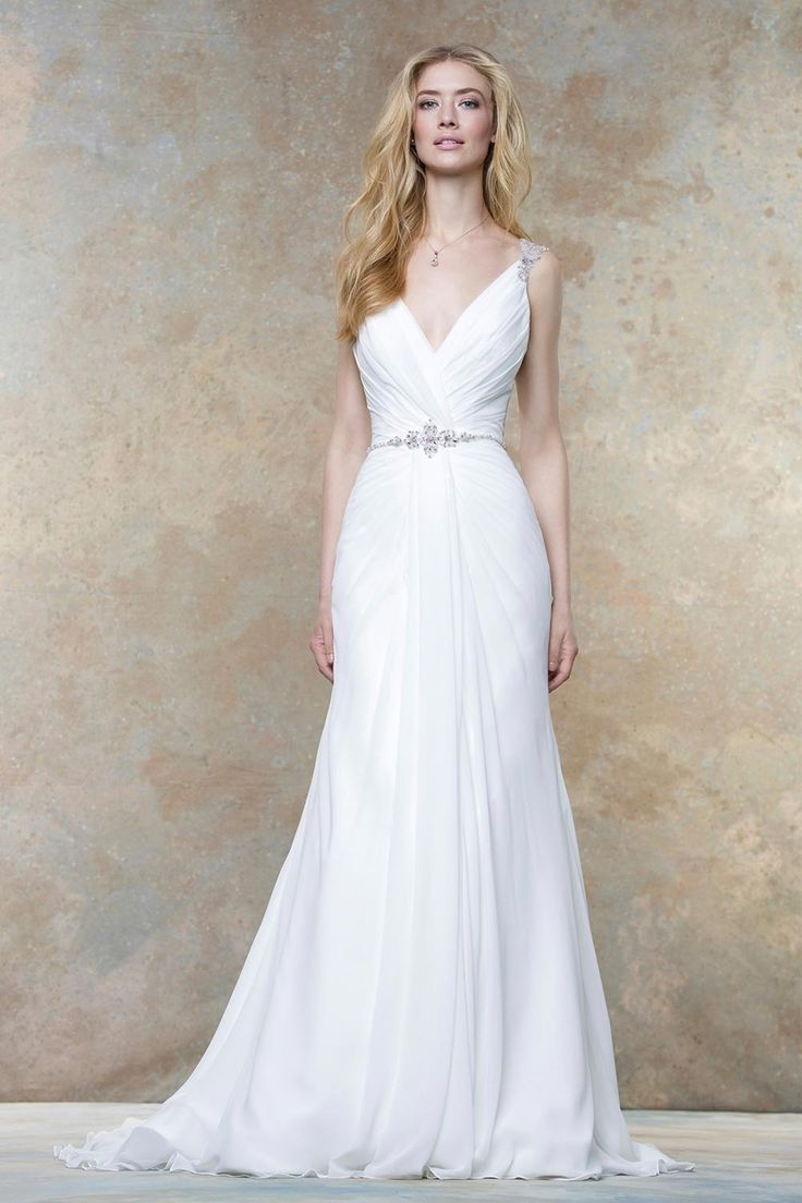 Draped wedding dress from Ellis Bridals