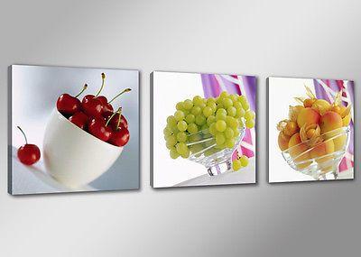 Cuadros en Lienzo = 150 x 50 cm Nr. 4218 frutas in Arte y antigüedades, Arte digital y foto artística | eBay