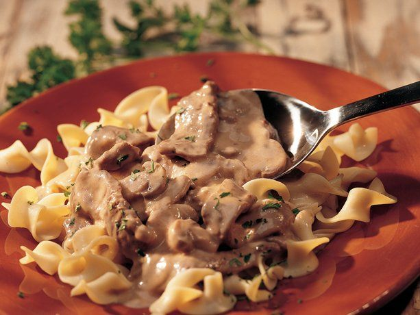 LOVE this recipe for Beef Stroganoff. I think its my old hamburger helper roots but I am a fan of it with ground beef.  The steak is fine too.  One tip: leave the onions/mushrooms in when you cook the beef.  Following the recipe exactly leaves them a little raw.
