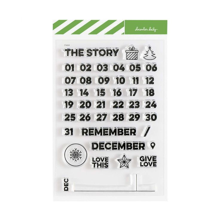 December Daily® December Calendar 4x6 Stamp Set  at Ali Edwards