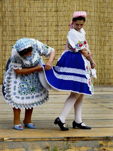 folk costumes of Kalocsa, Hungary