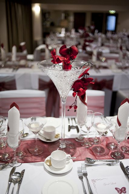 wedding centerpieces champagne glasses eventos pinterest